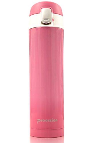 Thermosflasche Edelstahl-Thermoskanne Thermobecher auslaufsicher Getränk Thermos 16Oz Hydration Flasche, edelstahl, rose, Größe S