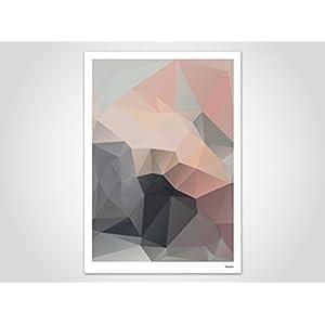 Subat / Poster, Kunstdruck, Bilder, Kunstdrucke, Deko, skandinavisch, Papier, Pastell, Marmor, Blumen, Rosen, geometrisch, Frühling, Sommer