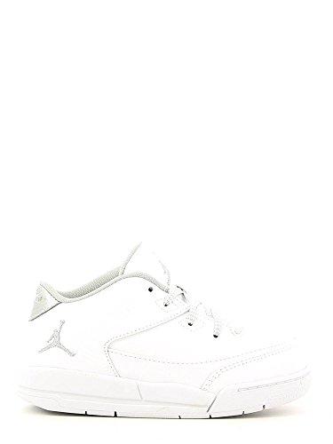 Nike Unisex Baby Jordan Flight Origin 3 BT Sneaker Weiß Metallic Silver-White, 23.5 EU (Origin-schuhe Jungen Jordan Flight)