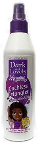 Dark and Lovely Kids Beautiful Beginnings - Ouchless Detangler Spray 250ml (Ouchless Detangler)