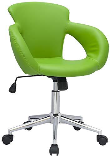 SixBros. Sgabello Girevole da Lavoro Sedia da Ufficio Verde - M-65335-1/2062