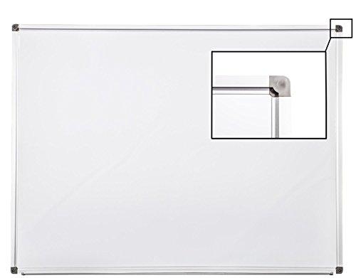 Whiteboard Magnettafel mit Alurahmen und großer Stiftablage, in 10 Größen, schutzlackiert magnethaftend, mit Montagematerial Größe:120x90 cm