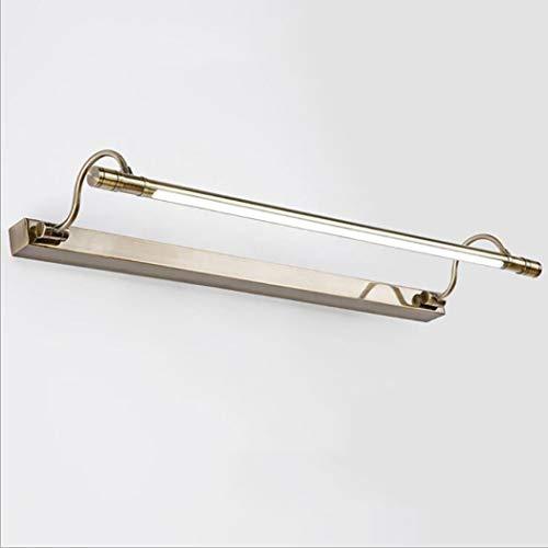 LED Spiegelleuchten, 10W Bad Spiegelleuchte 180 ° verstellbare antike Wandleuchten mit Schalter Edelstahl Bad Spiegelleuchte (3 Farbtemperatur),56cm (Antik Wandschrank)