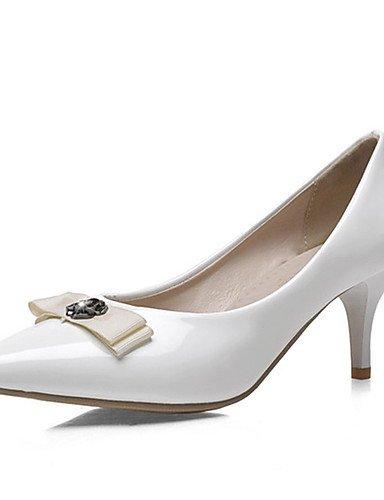 WSS 2016 Chaussures Femme-Bureau & Travail / Habillé / Décontracté-Noir / Vert / Rose / Rouge / Blanc-Talon Aiguille-Talons / Escarpin Basique / white-us5.5 / eu36 / uk3.5 / cn35