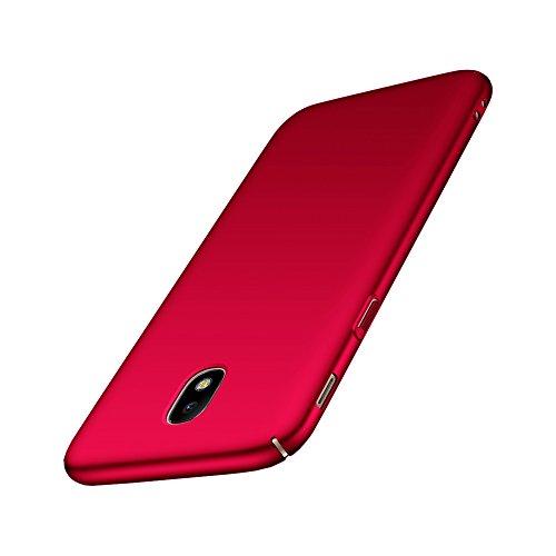 Aostar Samsung Galaxy J7 2017 Hülle, Ultra Dünn Hart-PC Bumper Case Schale Rückschale Handyhülle Schutzhülle für Samsung Galaxy J7 2017 J730, Rot