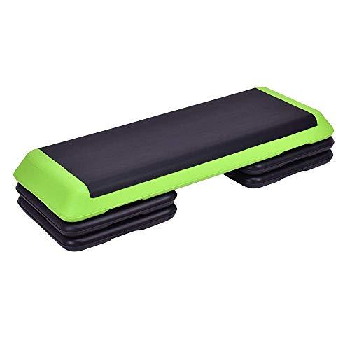 LLMLCF Fitness Pedal, Höhenverstellbarer Aerobic Step Übung Stepper, Yoga Schritte Raise Plattform Stepper-Brett Für Heim Und Fitnessraum,Grün,A