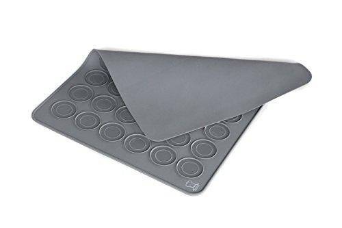 BackeFix Silikon Macarons Backmatte für Makronen und Kekse - die beliebteste für Anfänger passend zum Buch Ø 3,8cm