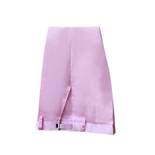 Cloudstyle Haut de costume deux-pièces une bouton veste+pantalon affaires décontraction mariage et animateur-rabattre collet rosé 1
