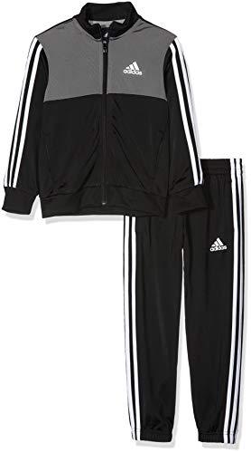adidas Jungen Trainingsanzug Tibero Closed Hem, Top: Black/Grey Four/White Bottom: Black/White/Grey...