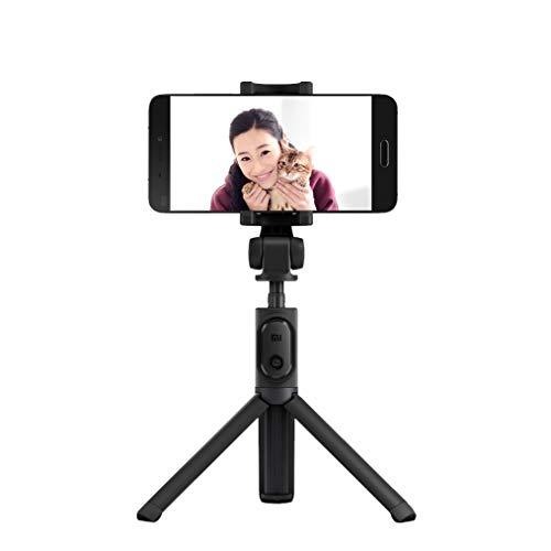 Xiaomi, bastone da selfie bluetooth, portatile e allungabile, convertibile in treppiedi. per cellulari ios android (nero)