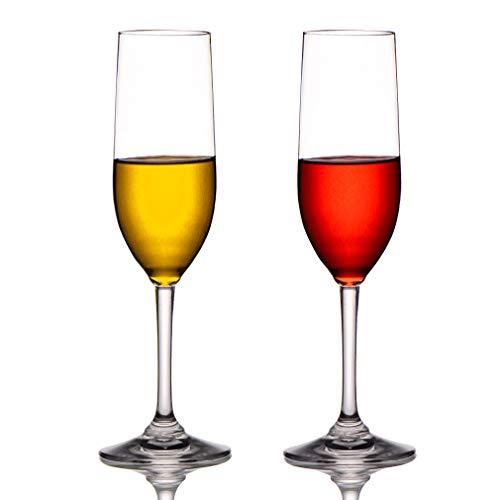 Cooky. D 8oz tritan-Plastic Champagner Flöten unzerbrechlich langstielige Weingläser, BPA-Frei & spülmaschinenfest, 2er-Pack (Brautjungfer Flöte)