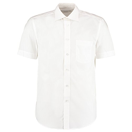 Kustom Kit Herren Modern Freizeit-Hemd Weiß