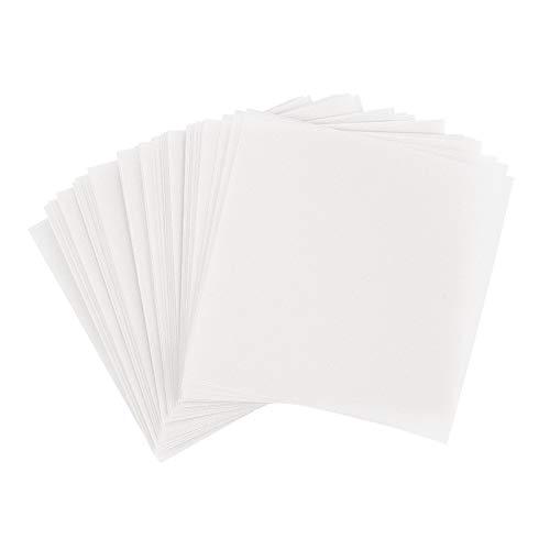 Ideen mit Herz Transparentpapier | 100 Blatt | quadratisch | Premium-Qualität | 110 g/qm | ideales Faltpapier zum Sterne basteln | transparentes Bastelpapier (weiß, 15 x 15 cm) -