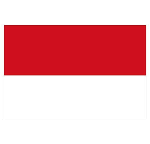 Supstick Monaco Fahne Aufkleber 8 Stück 3 x 2 cm -