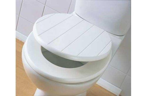 cream plastic toilet seat. TOILET SEAT TONGUE  GROOVE WOOD PANEL WHITE CREAM WOODEN Amazon co uk Kitchen Home