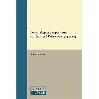 Les Catalogues D'expositions Surréalistes À Paris 1924-1939