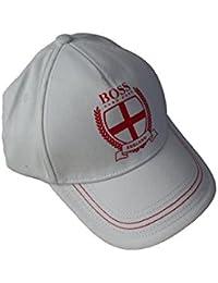 8d4550399ae BOSS Hugo Men White England St Georges Cross Football Baseball Cap hat