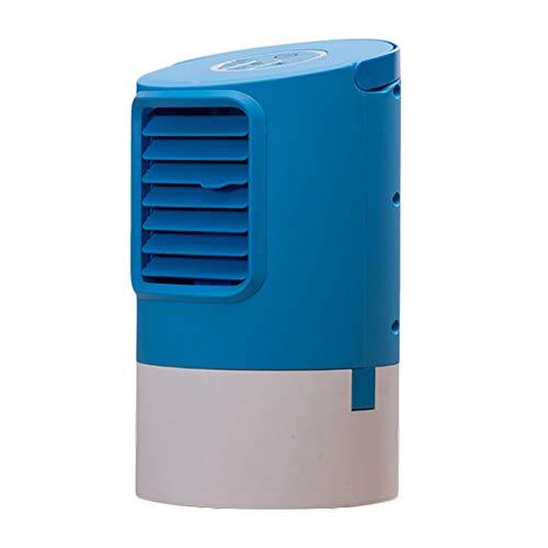 Little Giant Tank (DQM Tragbarer Klimaanlagenlüfter, Mini-Verdunstungskühler mit 7 lichtwechselnden Farben, 3 Lüfterstufen, super leise, für das Büro zu Hause)