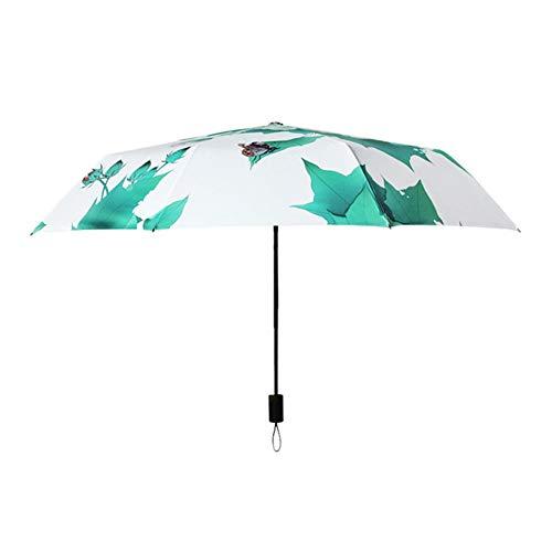 Marciay Regenschirm Kleine Frische Hibiskus Sonne Und Regen Dual Use Studenten Schirme Mode Living Outdoor Outdoor Sonnenstrahl Und Uv Beweis Faltung Sonnenschirme (Color : Colour, Size : One Size)
