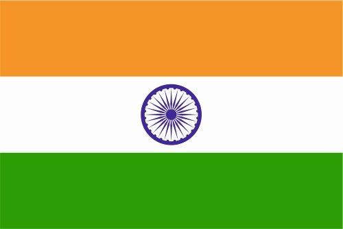 Autoaufkleber Sticker Fahne Flagge Aufkleber 10cm Indien laminiert sehr lange Haltbar