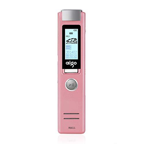LSQ Digital Voice Recorder, Diktiergerät Voice Activated MP3 Player Sound Recorder Versteckte Aufnahme Geschäft,Rosa