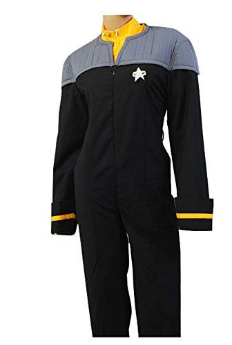 Star Trek Nemesis Engineering Gold Jumpsuit Cosplay Kostüm Herren (Star Jumpsuit Kostüm Trek)