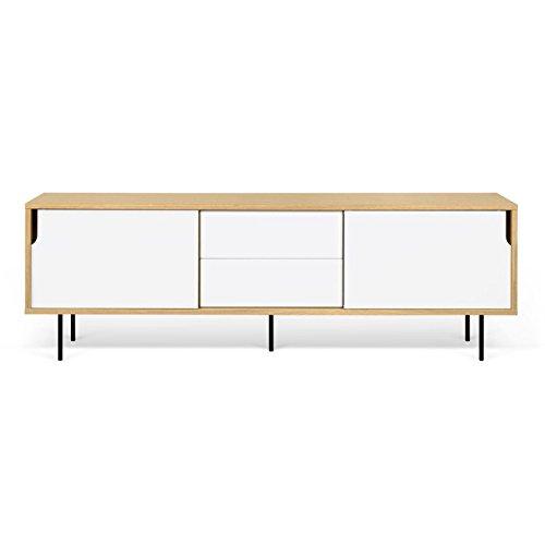 Paris Prix - Temahome - Meuble TV Design dann 201cm Chêne & Blanc