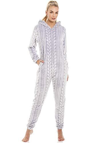 8113f60060 ... weißer Stern Drucken Hellgrau Strampler. Camille. 34,79 €.  Schlafanzug-Overall mit Kapuze und Reißverschluss extra-Weiches Fleece Grau  mit Zopfmuster