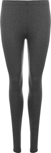 WearAll - Damen Übergröße Lange Leggings - Dunkelgrau - 52 bis 54
