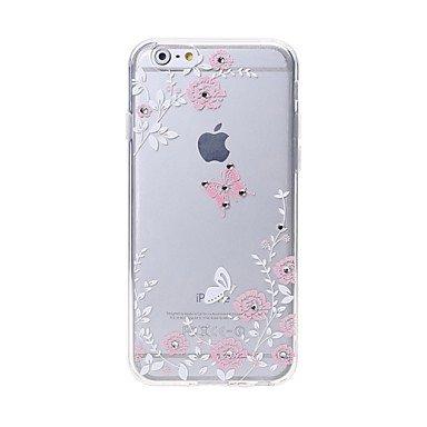 Casi di alta qualità, Ultima cassa del telefono di alta qualità farfalle modello del diamante di swarovski rilievo laser tocco di iphone 6plus / 6s più ( Modello compatibile : IPhone 7 Plus )