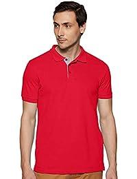 United Colors of Benetton Men's Plain Regular fit Polo (19P3DTPE0032I_219_Red_L)