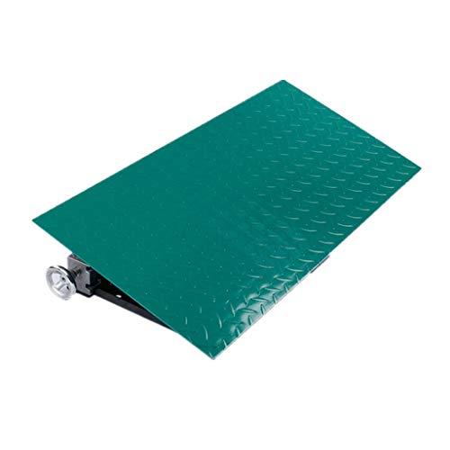 Tapis de rampe de levage, tapis antidérapant de dent de route d'étape de protection extérieure de pont de rampe en métal de rampe en métal (Couleur : Green)