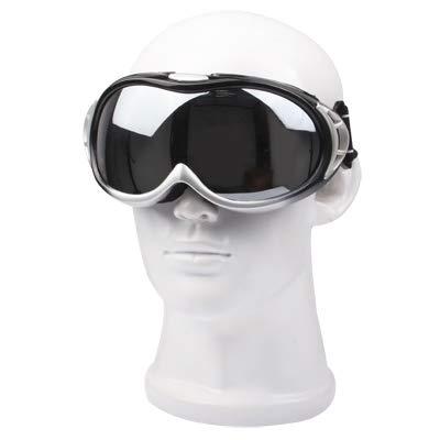 Yiph-Sunglass Sonnenbrillen Mode Sportliche Anti-Impact-Snowboardbrille/Skibrille für Skirennen mit Ledertasche (Farbe : Silber)