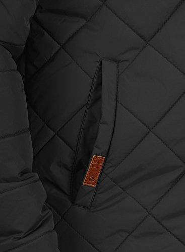 BLEND Herren Divior Übergangsjacke Stepp-Jacke mit Kapuze aus winddichter und hochwertiger Materialqualität Black (70155)