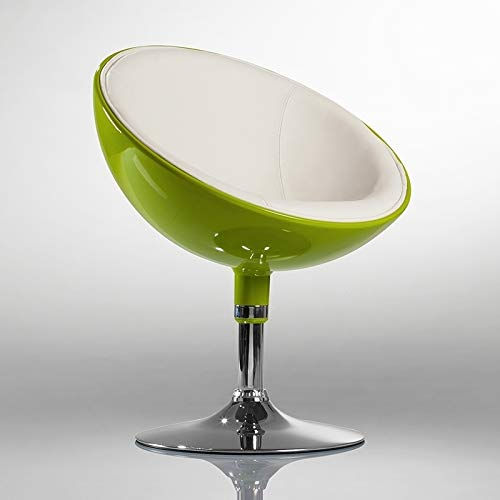 Lounge Sessel in Grün Clubsessel Kunststoff Kunstleder Cocktailsessel Retro Design Sessel Duhome 0613
