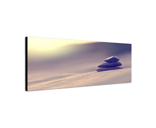 Feng Shui Tiefenentspannung Ruhe 150x50cm Panorama Wandbild auf Leinwand und Keilrahmen fertig zum aufhängen - Unsere Bilder auf Leinwand bestechen durch ihre ungewöhnlichen Formate und den extrem detaillierten Druck aus bis zu 100 Megapixel hoch aufgelösten Fotos.