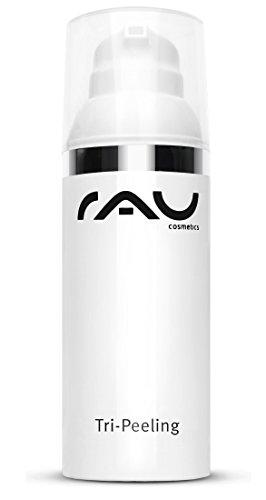 RAU Tri Peeling 50 ml - 3-fach Wirkung Fruchtsäure Peeling und Enzympeeling, Hochwirksames Gel Peeling mit Anti-Aging Wirkstoff Weisser Tee und dem Enzymatischen Wirkstoff der Papaya (AHA, BHA)