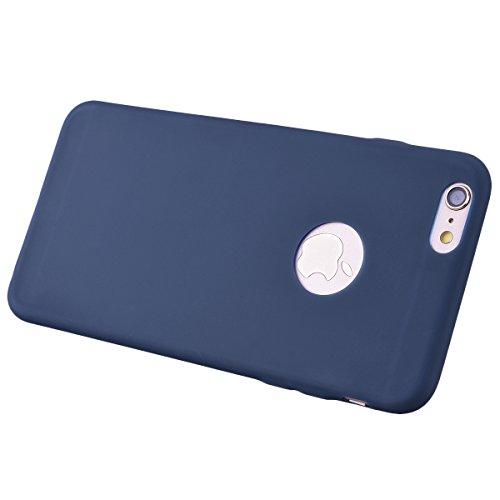 Coque iPhone 6 Plus. Housse iPhone 6S Plus Bleu GrandEver Etui Silicone Souple Back Cover Case Caoutchouc Rubber Gel Cases Haute qualité Flexible Soft Back Case coquille Couverture pour Apple iPhone 6 Bleu