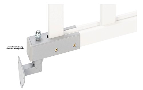 Impag® Treppenschutzgitter Absperrgitter Türschutzgitter Buche Massivholz 65 – 115 cm, Extrahoch 90 cm JW - 4