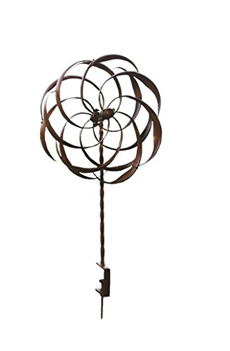 Antike Graffiti ag-8711516x 79cm kupfer/Grünspan Flower Deck Spinner mit Klemmung–Mehrfarbig (Outdoor-deck Dekor)
