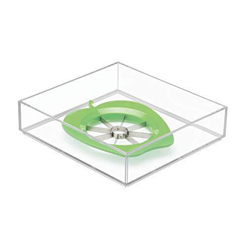 iDesign 49640EU Clarity Schubladen-Organizer, 20,5 x 20,5 x 5 cm, durchsichtig, kunststoff (5 Schubladen Organizer)