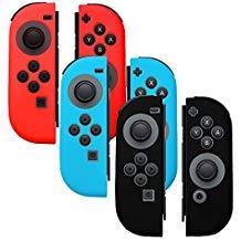 Silikon-Schutzhülle für Joy-Con Controller - kompatibel mit Nintendo Switch (3-farbiges Pack), rutschfest, weiches Silikon, ergonomisches Design Silikon Skin Pack