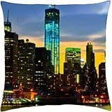 freedom tower in nyc - Throw Pillow Cover Case (18
