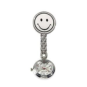 Ansteckuhr, Pulsuhr, Schwesternuhr, Uhr mit Sekundenzeiger