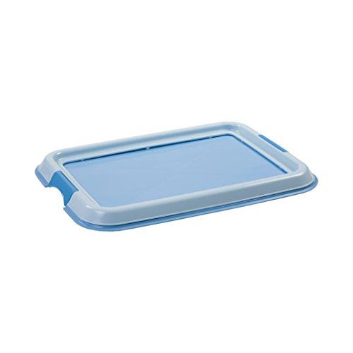 IRIS, Welpentoilette / Training Pad Halter für Hunde / Tablett für Trainungsunterlagen \'Pet Tray\', FT-495, Kunststoff, blau, 49 x 36,5 x 3,2 cm