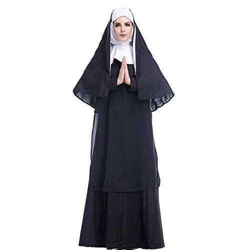 Erwachsene Kostüm Klassische Nonne Für - QWE Halloween Kostüm Cos Jesus Christus männlich Missionar Priester Kostüm Priester Marian Nonne Kostüm Rollenspiel