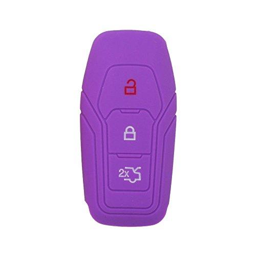 fassport Silikon Cover Haut Jacke Fit für Ford 3Taste Smart Fernbedienung, Schlüssel Hohl Textur cv9706