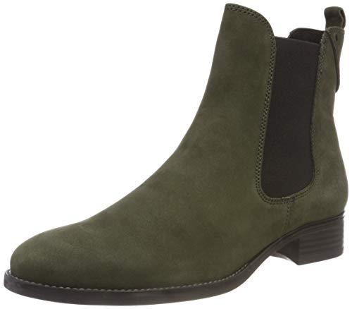Caprice Damen 9-9-25317-21 Chelsea Boots, Grün (Khaki Nubuc 715), 40 EU (Flache Damen Ankle Größe 9 Boots)