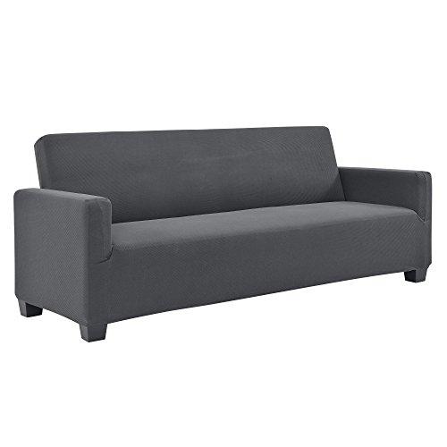 [neu.haus] Copridivano - Fodera per divani grigio scuro divani con la larghezza di 140-210 fodera elastico