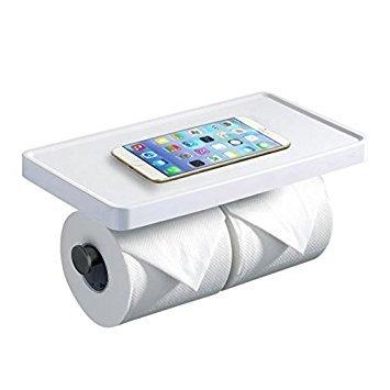 Hiendure ®Hochwertig Wandhalter Toilettenpapierhalt Papierhalter Küchenrollenhalter Toilettenpapierhalter mit Deckel Abdeckung